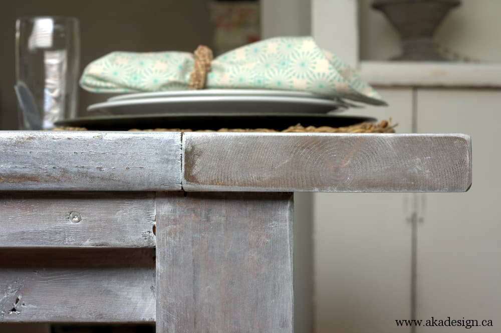 aka design farmhouse table side detail