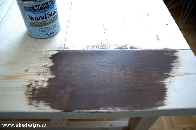 applying american walnut stain