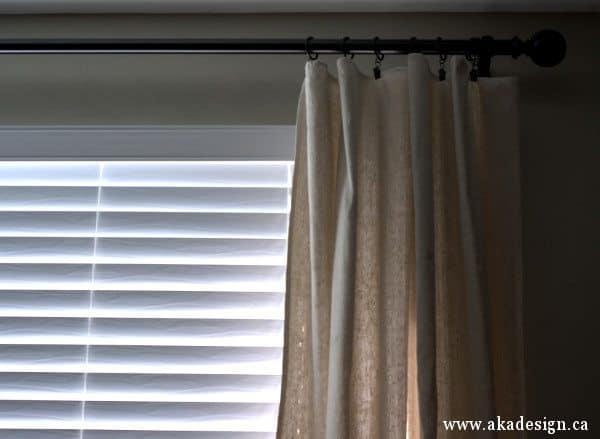 blinds curtain rod