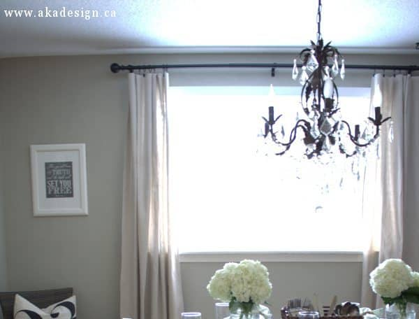 Make Your Own No Sew Drop Cloth Curtains