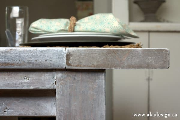 dining room table detail for post