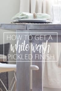 how to get a white wash pickled finish