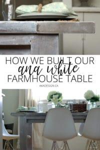 how we built our ana white farmhouse table