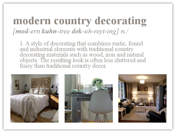 Definition Modern Country Decorating