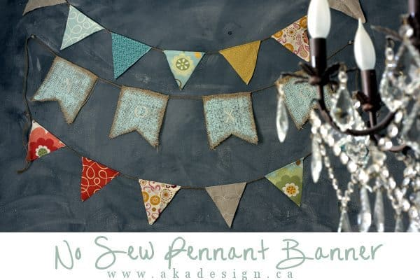 no sew pennant banner