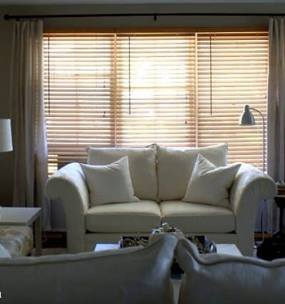 Drop Cloth Curtains for the Living Room | Small Update