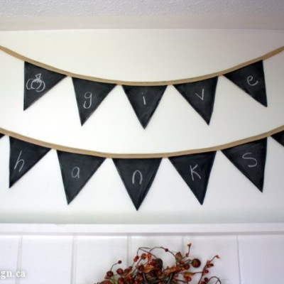 All-Occasion Chalkboard Banner (Fabric & Reusable!) | Project