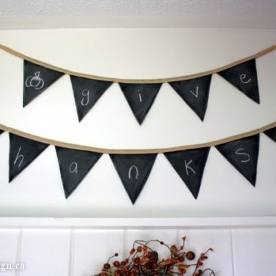 All-Occasion Chalkboard Banner – It's Fabric & Reusable!