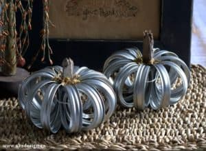 canning jar ring pumpkin
