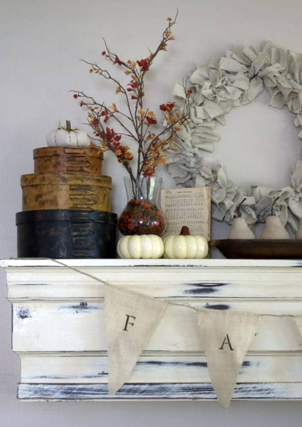 Before You Forget, See Our Lovely Farmhouse Fall Mantel!