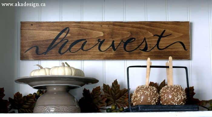 DIY Harvest Sign