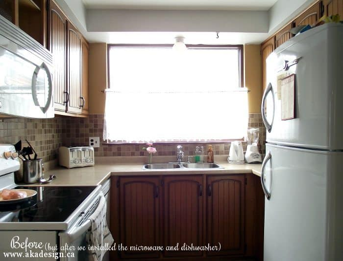 kitchen before (after dishwasher and microwave)
