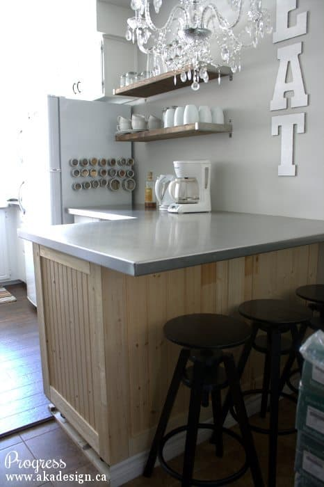 kitchen breakfast bar progress