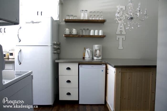 kitchen progress fridge wall