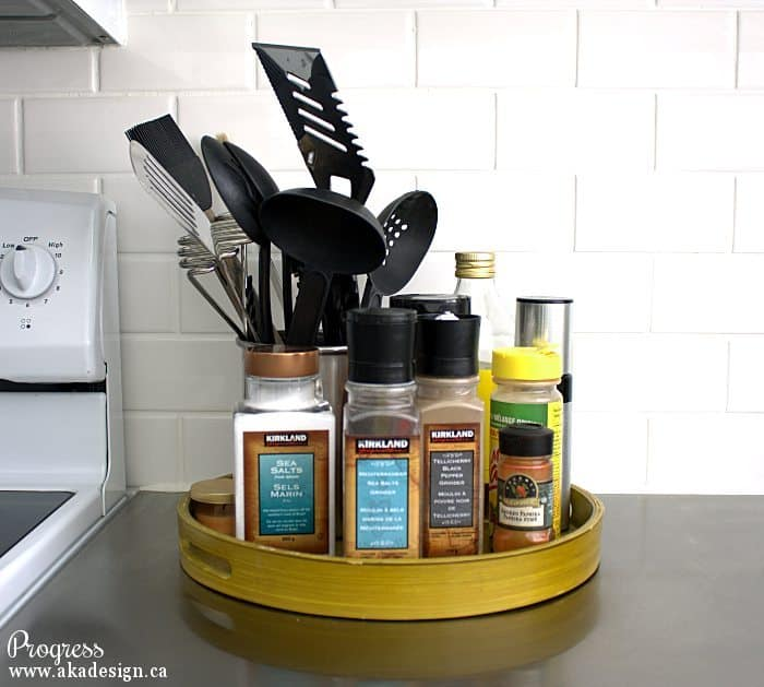 kitchen progress tray