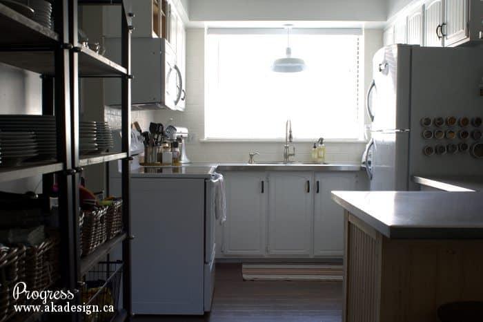 kitchen progress - whole room
