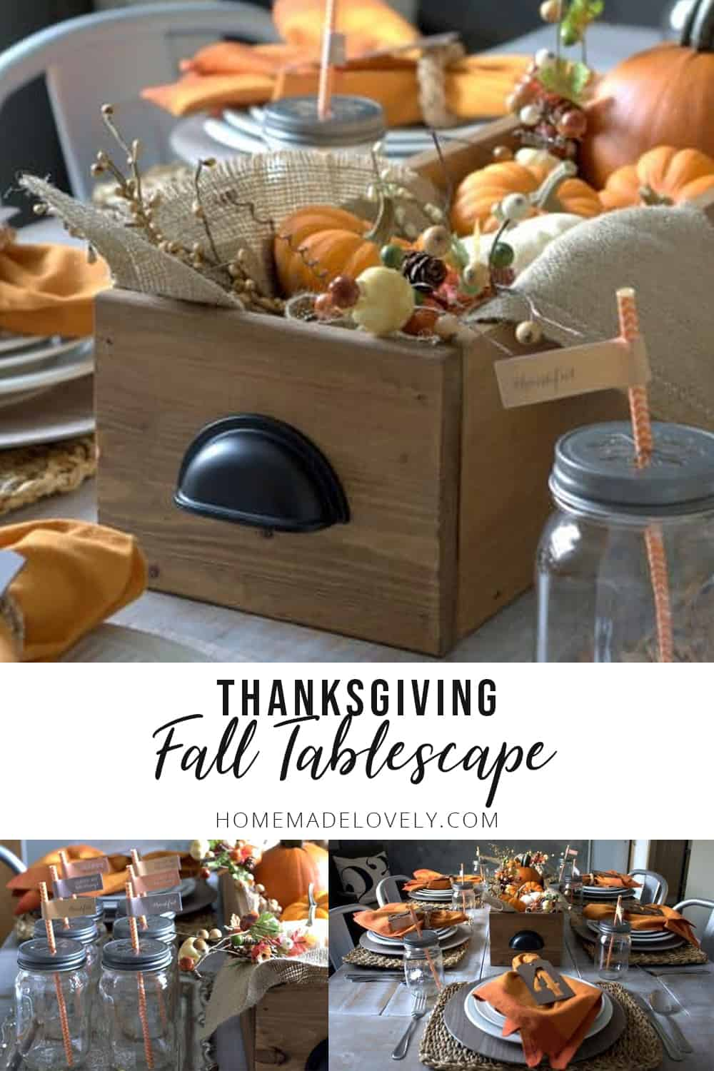 Thanksgiving fall tablescape