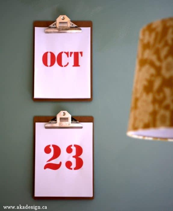 clipboard perpetual calendar 1