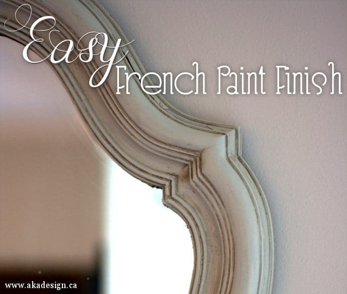 easy french paint finish