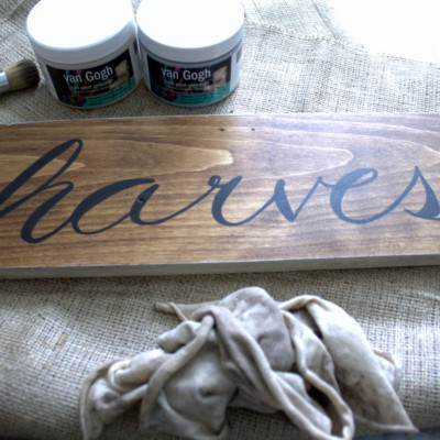 How to Make a Harvest Sign with Faux Calligraphy + a Sharpie