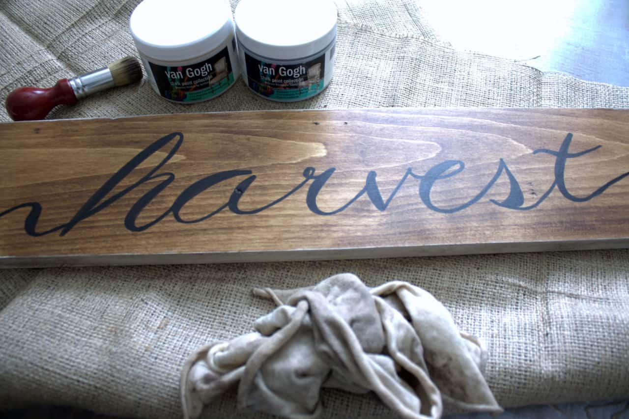 harvest sign and wax