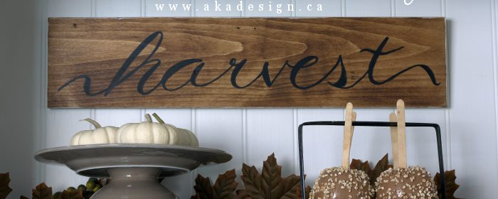 Harvest Sign | Project