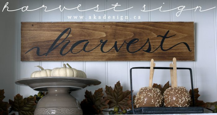 harvest sign (title)