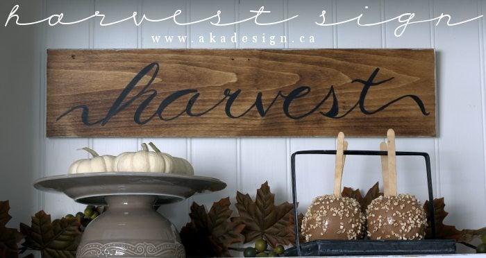 harvest sign (title)