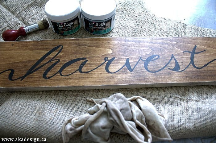 harvest sign van gogh wax