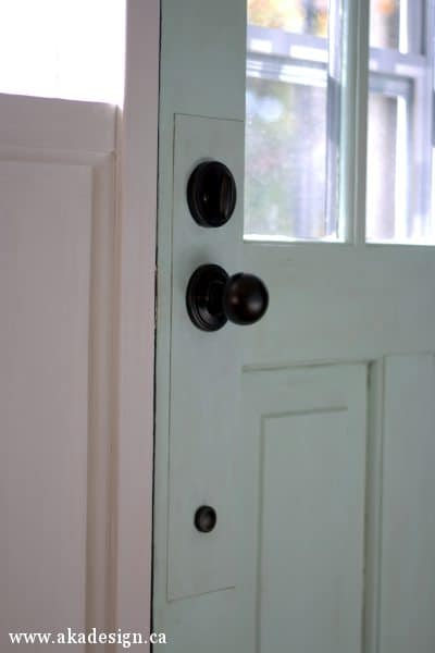 interior knob and lock