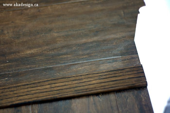 transition and baseboard