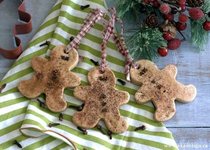 DIY GINGERBREAD SALT DOUGH ORNAMENTS
