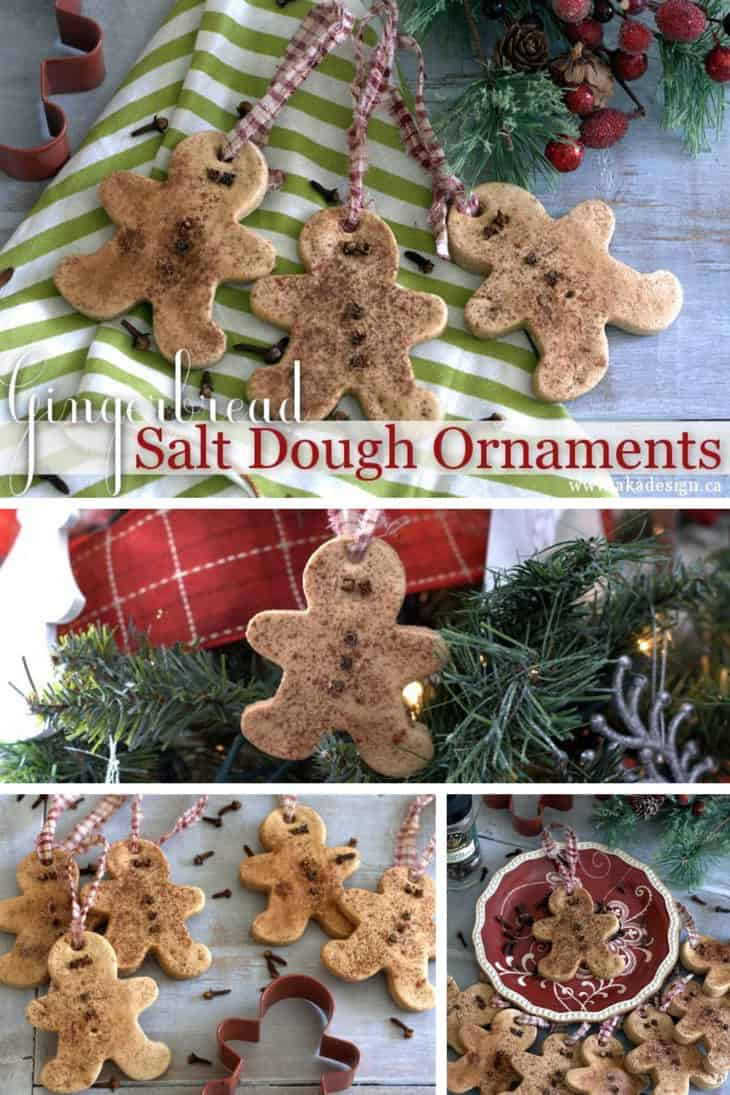 gingerbread salt dough ornaments