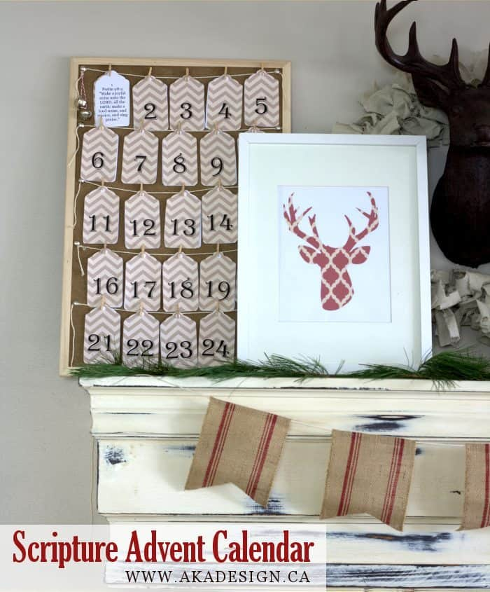 SCRIPTURE ADVENT CALENDAR PRINTABLE