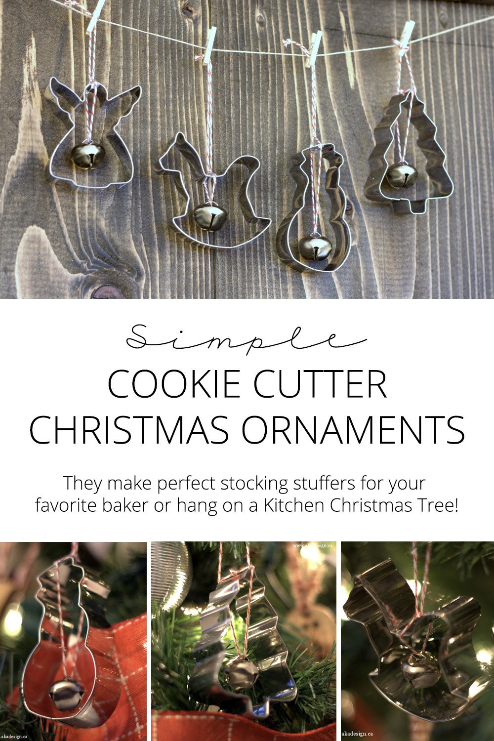 simple cookie cutter Christmas ornaments