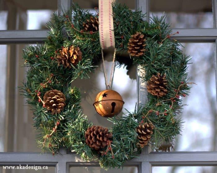 winter wreath on door