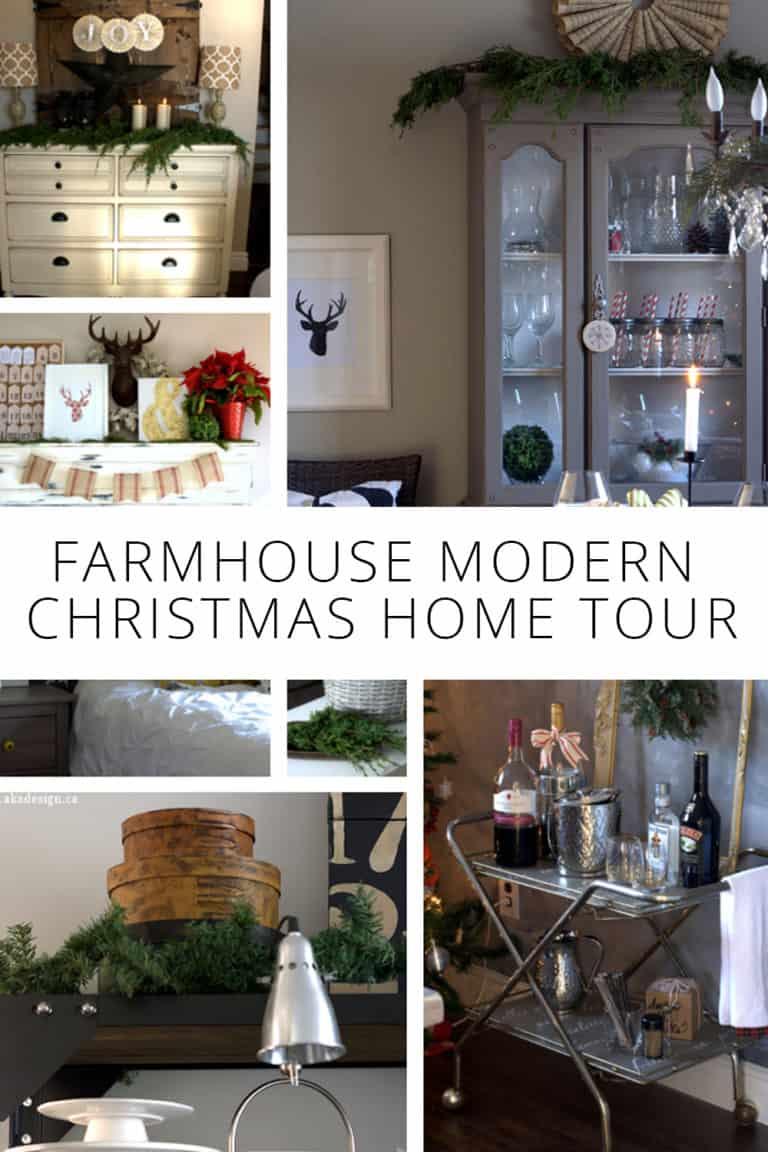 Farmhouse Modern Christmas Home Tour