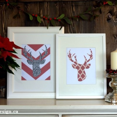 Deer Head Silhouettes | Holiday Printables