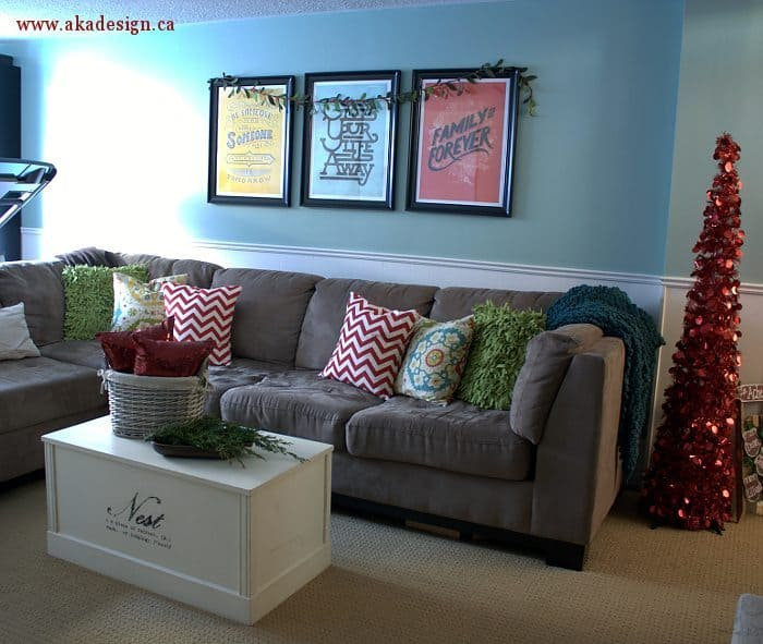 family room couch wall