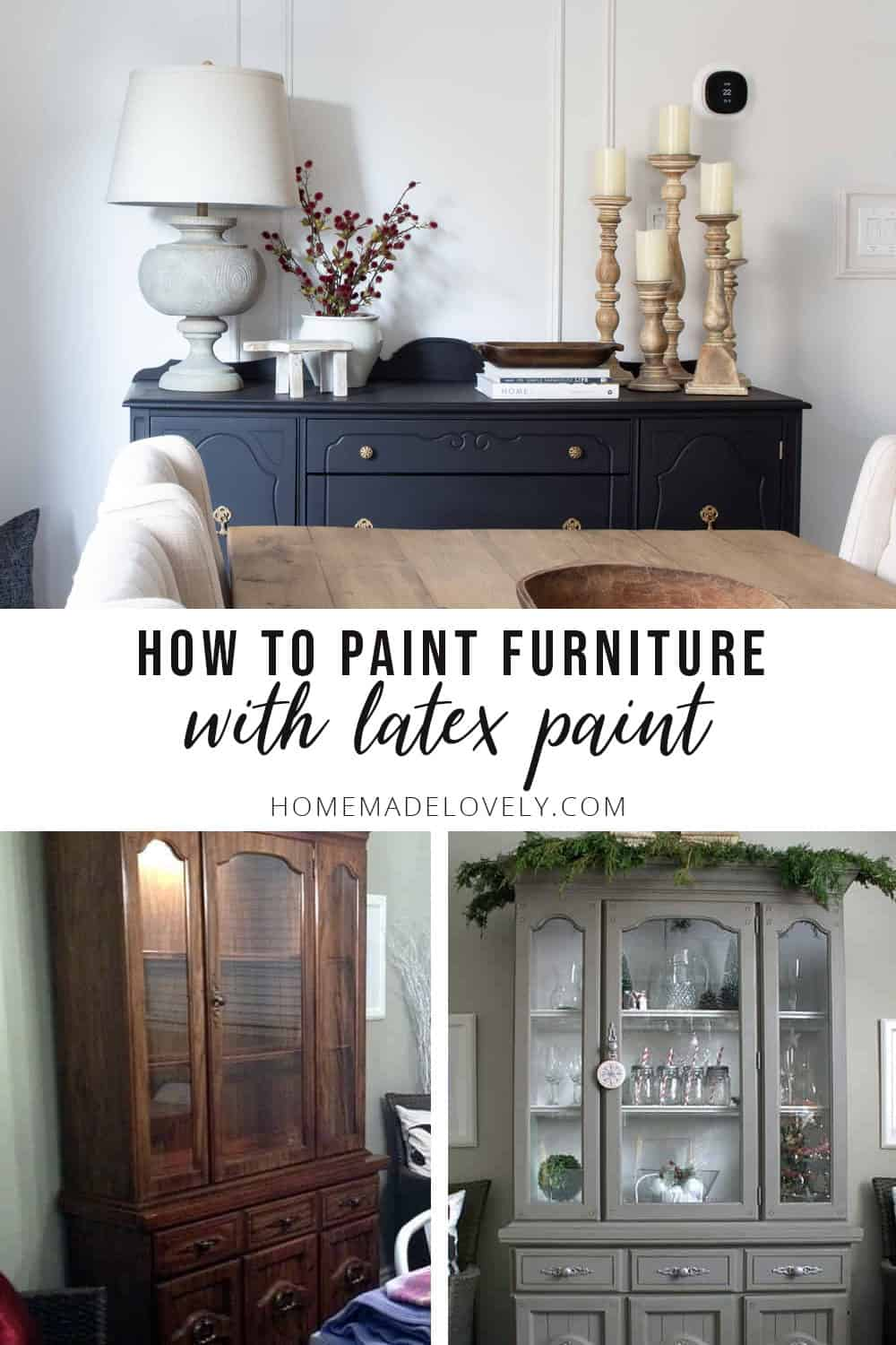 how to paint furniture with latex paint