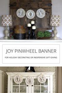 joy paper pinwheel banner