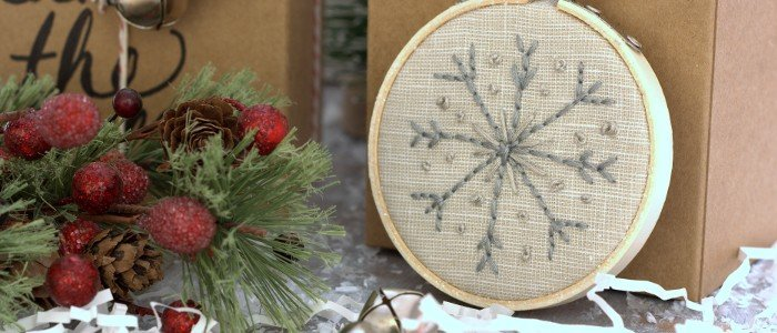 Snowflake Embroidery Hoop Ornaments