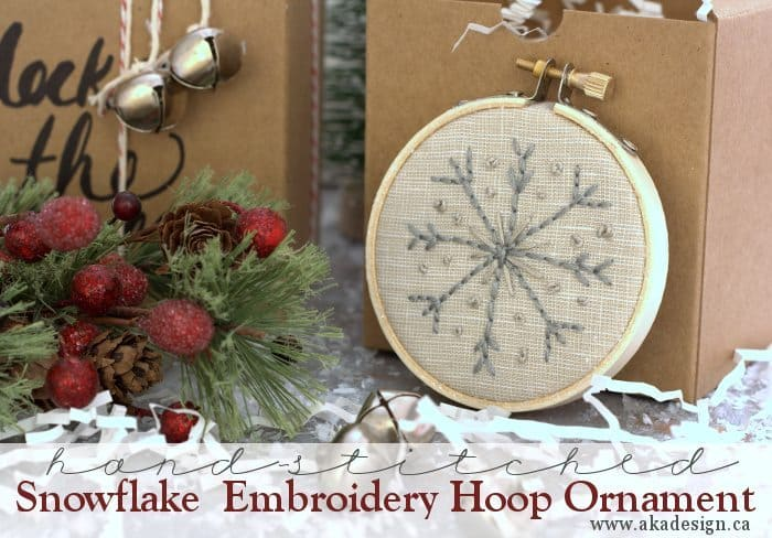snowflake embroider hoop ornaments title