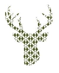 thumbnail deer silhouette green snowflakes