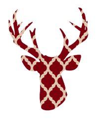 thumbnail deer silhouette red trellis