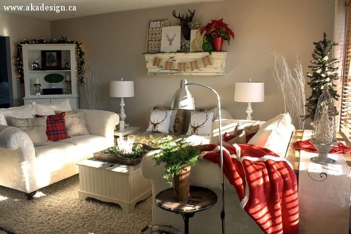 red cream living room farmhouse modern home tour 14671