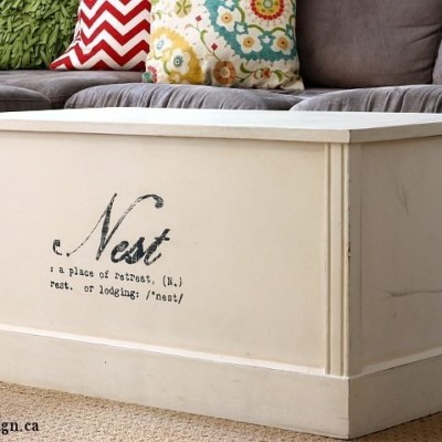 Nest Chest-Turned-Coffee Table | Trash to Treasure