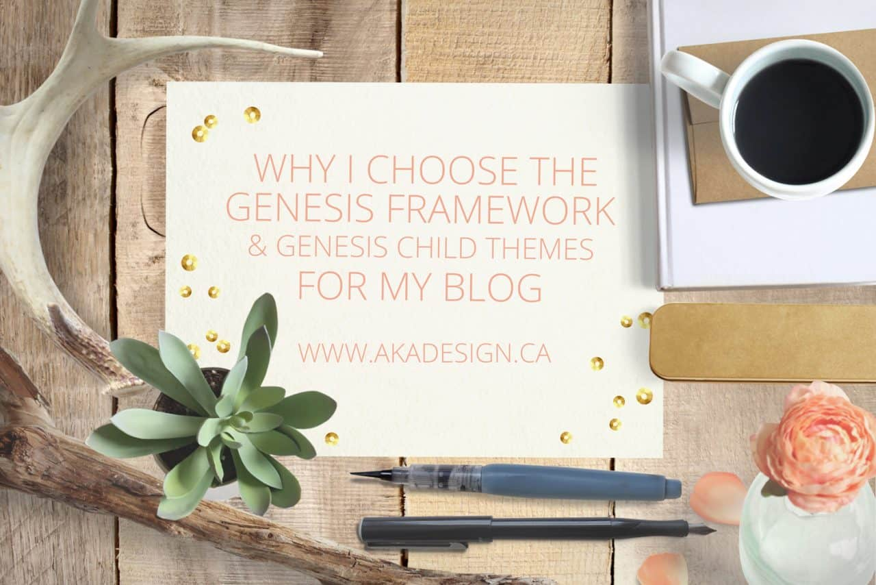 WHY I CHOOSE GENESIS FOR MY BLOG