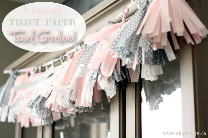 do it yourself tissue paper tassel garland