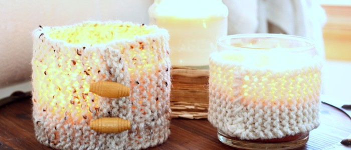 Knit Candle Cozies